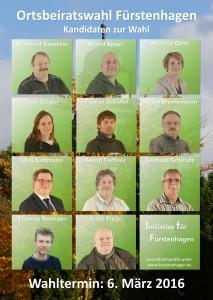 Wahlplakat A2 für Ortsbeiratswahl Fürstenhagen